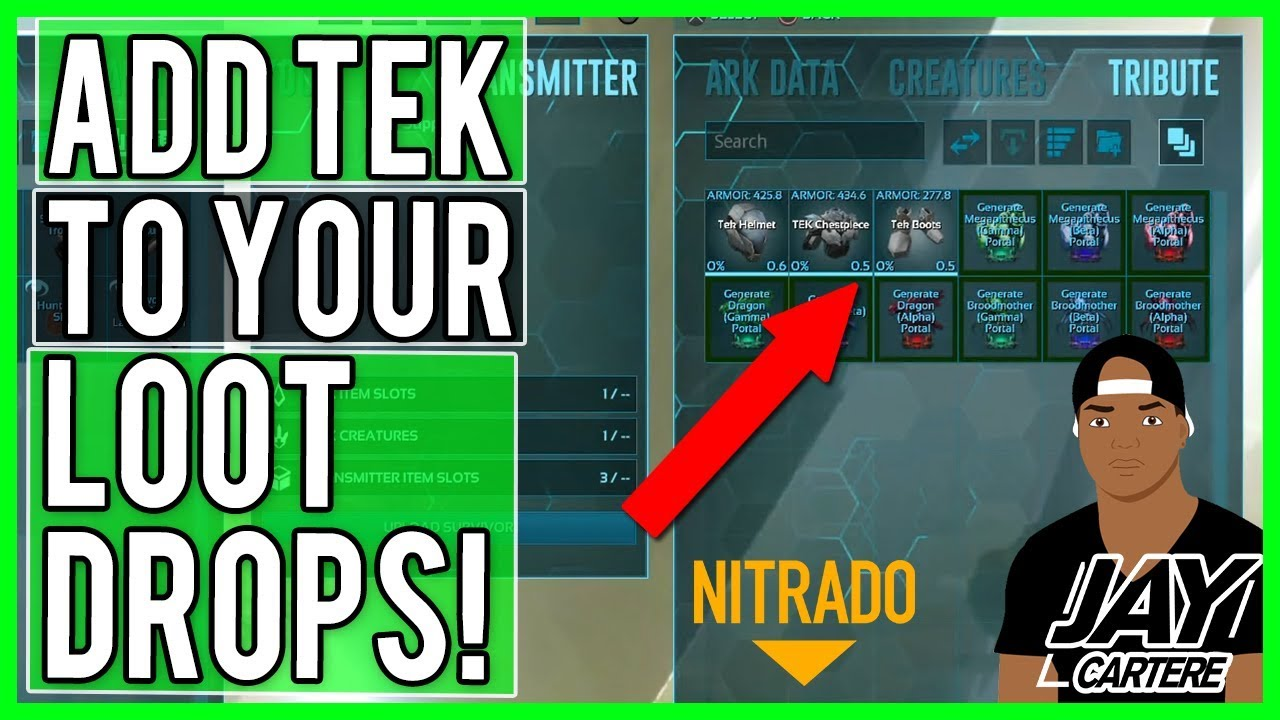 ARK PS4 Server Tips - HOW TO ADD TEK GEAR TO YOUR LOOT CRATES - HOW TO  CUSTOMISE / EDIT LOOT CRATES