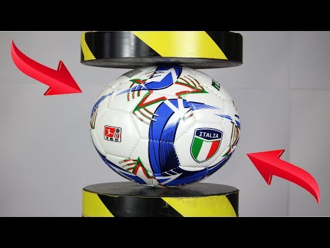 Experiment FootBall And Toys VS Hydraulic Press | The Crusher