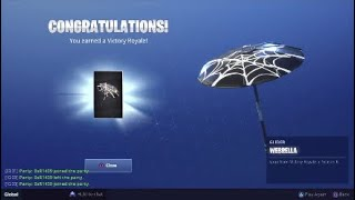 Unlocking Webrella Glider Victory Royale Glider - Fortnite Battle Royale Season 6