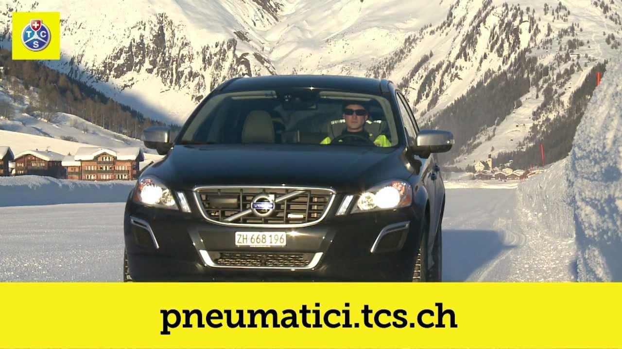 tcs test di pneumatici invernali 2012 - youtube
