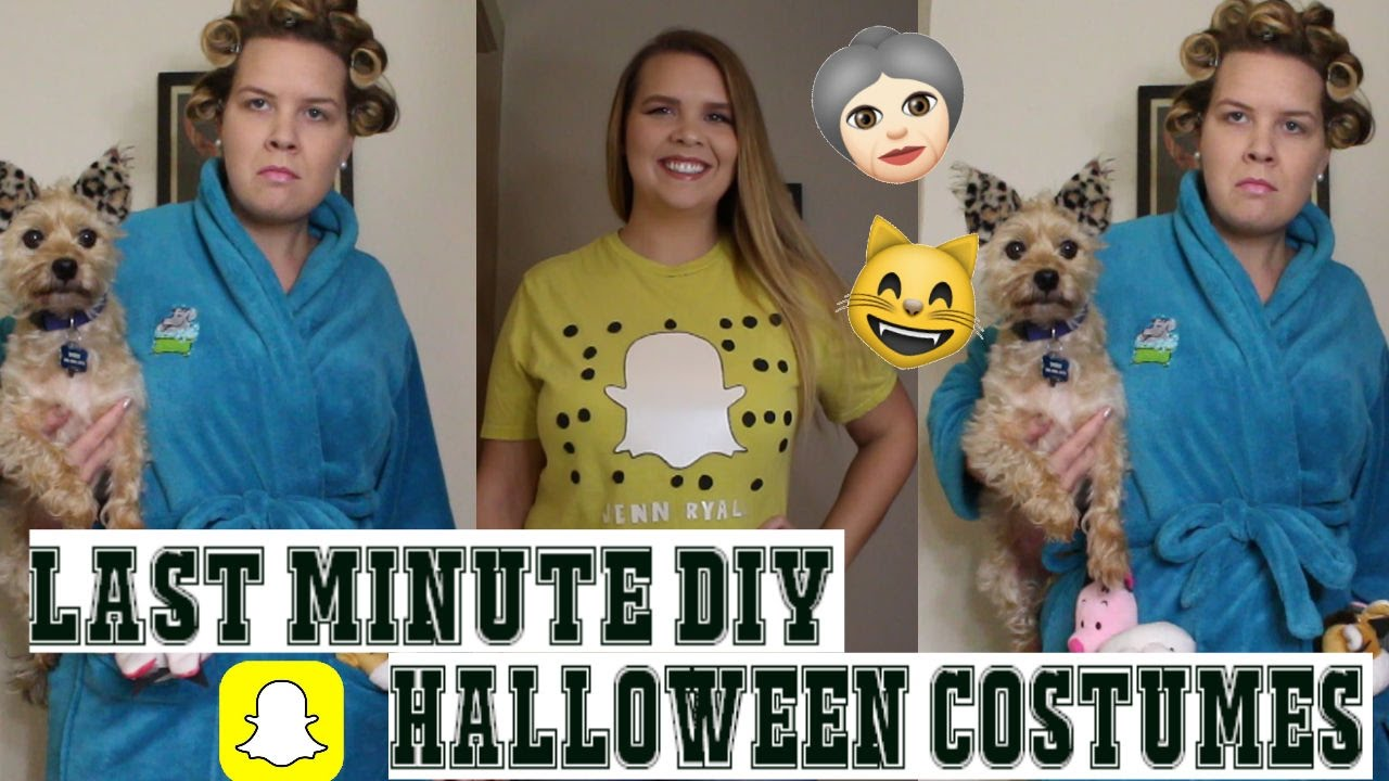 two last minute diy halloween costumes crazy cat lady snapchat jennryall youtube. Black Bedroom Furniture Sets. Home Design Ideas