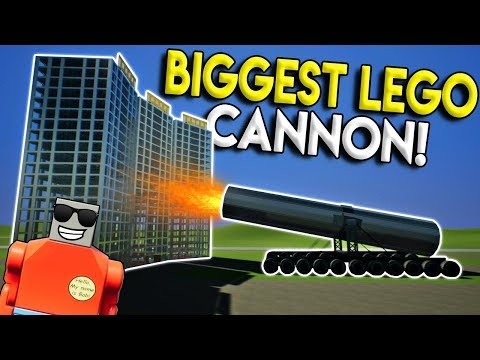 WORLDS BIGGEST LEGO CANNON VS SKYSCRAPER! - Brick Rigs Gameplay Creations - Lego City Destruction