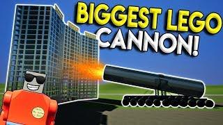 WORLDS BIGGEST LEGO CANNON VS SKYSCRAPER! - Brick Rigs Gameplay Creations - Lego City Destruction