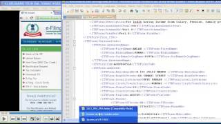 3 How to upload Return (ITR )online  IN XML format inside Income Tax Website