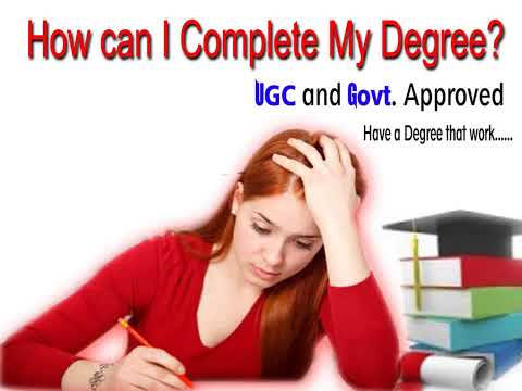 Discontinued Degree   Fast Track Online Degree Programme