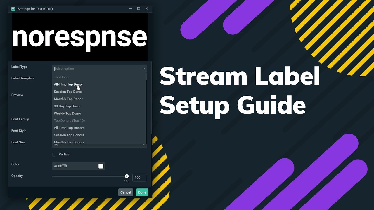 How To Set Up Streamlabs Stream Labels