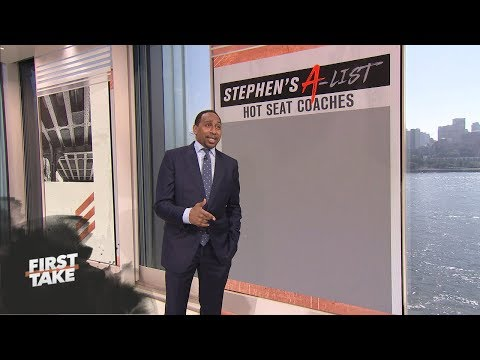 Stephen A. Smith's Top 5 NFL Coaches on the Hot Seat | First Take | ESPN