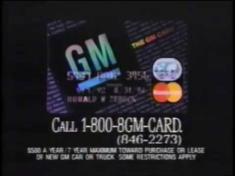 The GM Card- Master Card- Credit Card -Commercial -General Motors (1993)