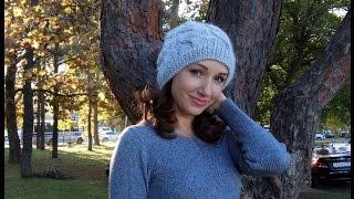 Как вязать шапку узор косы или жгут от Миланида (бесплатный МК)