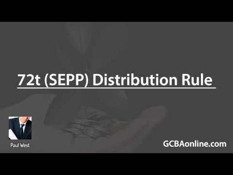 How to Use the 72t Distribution Rule (SEPP Withdrawals)