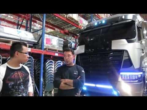 Meeting Optimus Prime and Galvatron at Daimler Trucks