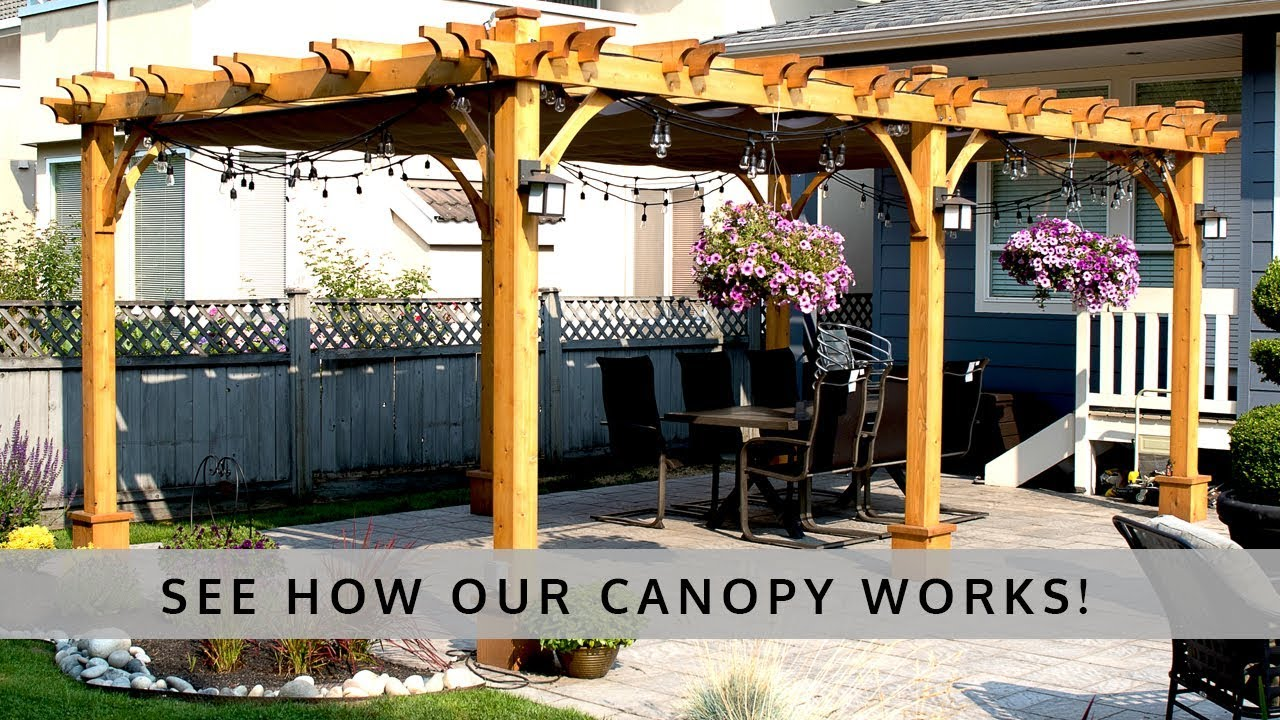 Retractable Canopy For Pergola - How it works retractable canopy by pergola canopy com