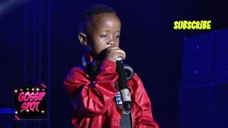 Fresh kid first ever performance on stage   BAMBI HE WAS SHY