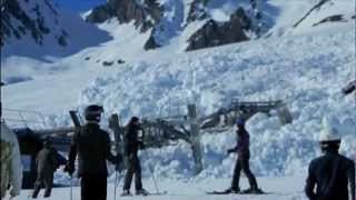 Snow avalanche in France Destroying!