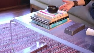 How To Decorate With Random Books On A Coffee Table : Easy Designing & Decorating Tips