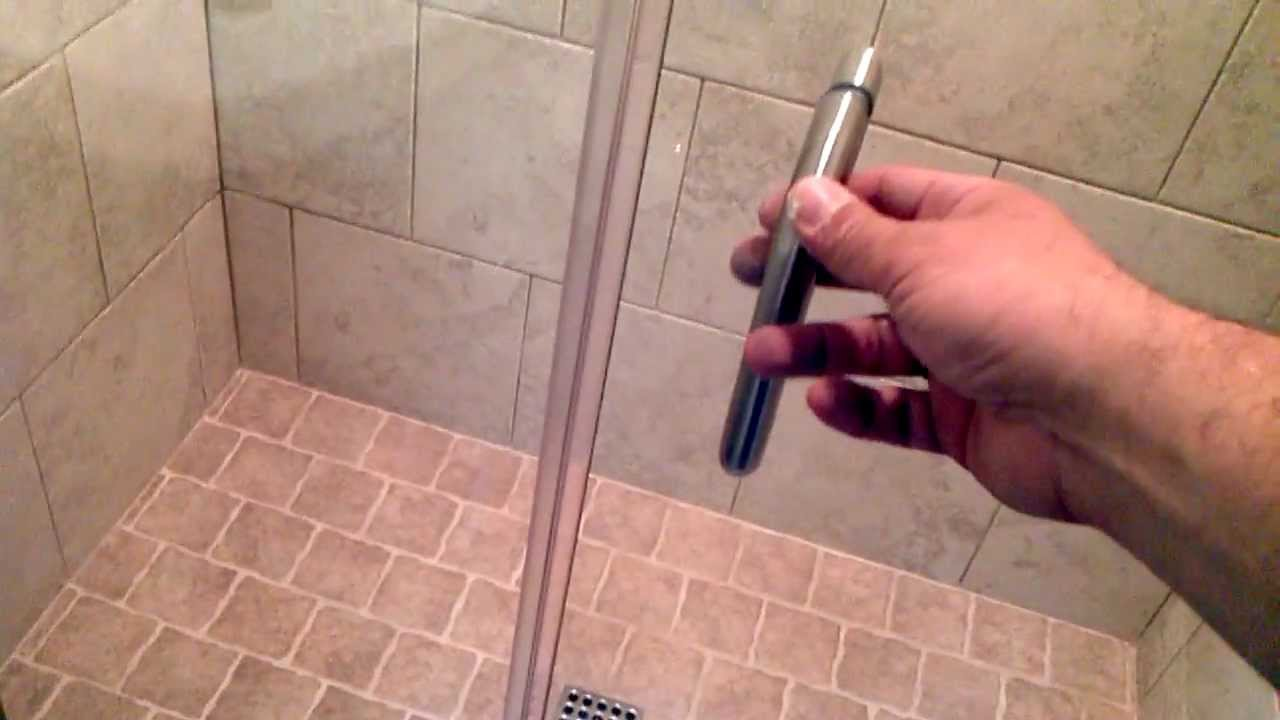Install Framless Shower Doors That Swing In And Out Youtube