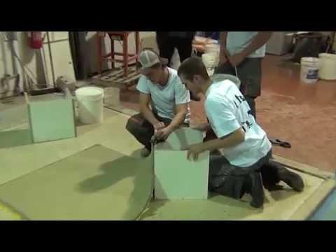 formation mobilier beton concrete countertop training dec 2011 moderne methode beton academy - Cour En Beton Color