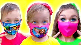Wear your Mask Song Indonesian Version | Lagu Anak Anak Video Edukasi dari Alex dan Nastya