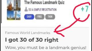 The Famous Landmark Quiz answers    +7 Points    Quizfactory.com