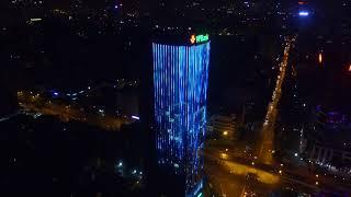Trang trí chiếu sáng công nghệ Led tòa nhà VPBank 89 Láng Hạ - Flycam 2