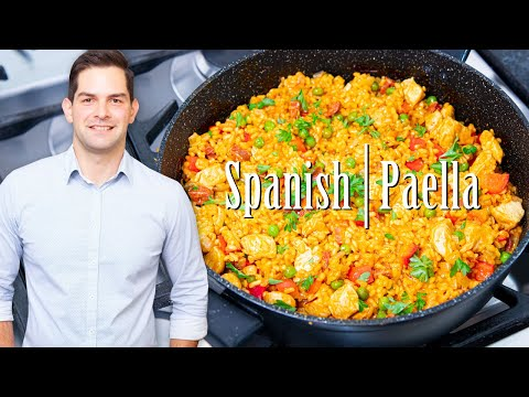 Paella Recipe Seafood + Chicken & Prawns – Easy Prep & SUPER Tasty #Ad