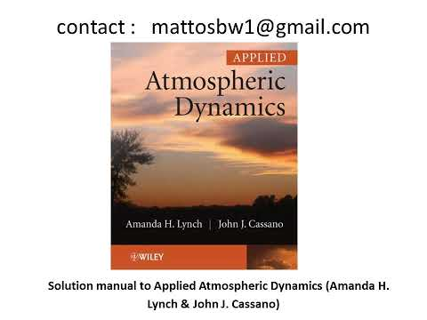 Applied Atmospheric Dynamics
