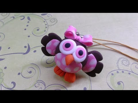 Polymer clay/Fimo tutorial- Baby Owl/ Corujinha