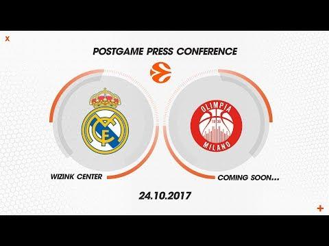 Press Conference Post Real Madrid - AX Armani Exchange Olimpia Milan