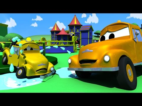 Tom The TOW TRUCK and Babie's ACCIDENT in Car City | CARS & TRUCKS construction CARTOON for CHILDREN