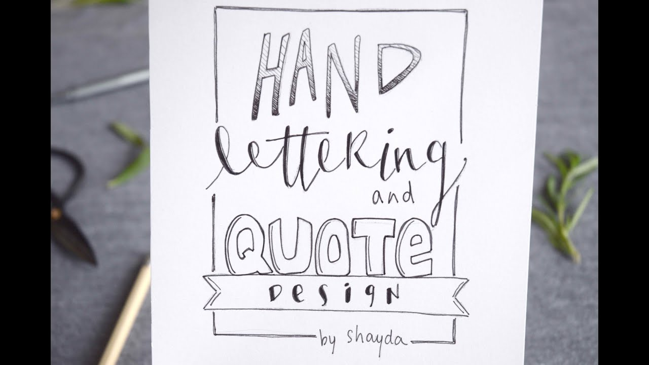 How To Design Hand Letter A Quote