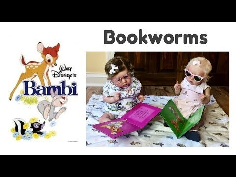 Reborn Babies Reading BAMBI Books ~ BOOKWORMS ~ Theme of the Week