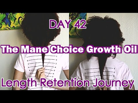 Hair Growth Vitamins >> DAY 42: The Mane Choice Growth Oil | Length Retention Journey - YouTube