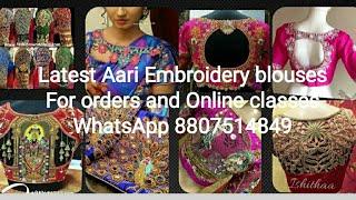 Latest Aari Embroidery bridal blouse orders taken #Online classes