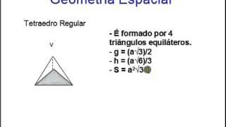 Tetraedro - Aula 08 - Geometria Espacial