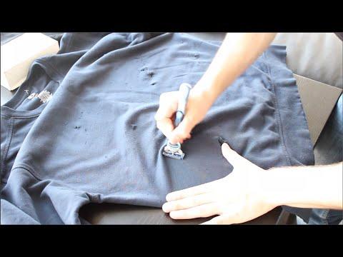 DIY Distressed Crewneck Sweater!