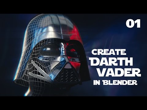 Blender Tutorial : Star Wars Darth Vader Helmet - 01