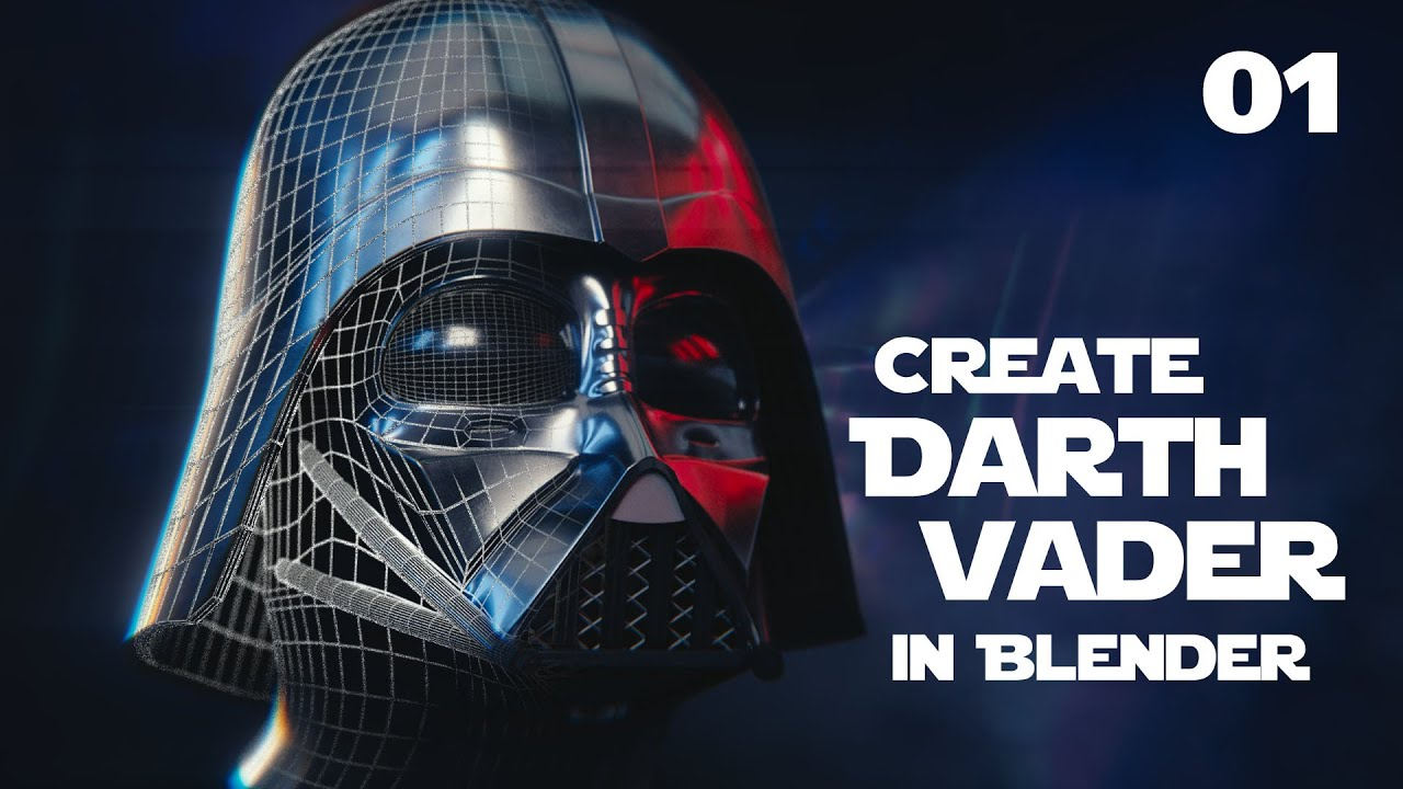 Blender Tutorial : Star Wars Darth Vader Helmet - 01 - YouTube