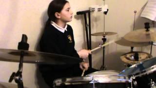 grade 5 rockschool drums d 11 yr old drummer girl
