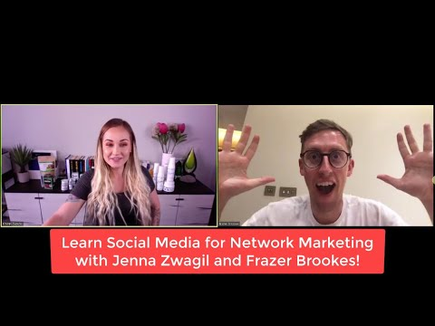 Learn Social Media Secrets for Network Marketing with Jenna Zwagil and Frazer Brookes!!