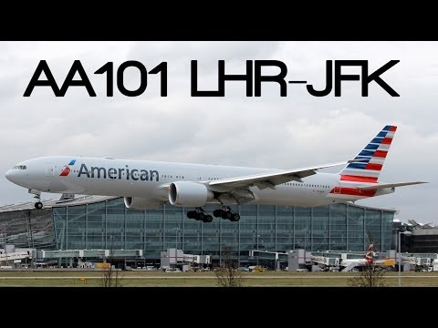 [HD] American Airlines 77W - London to New York