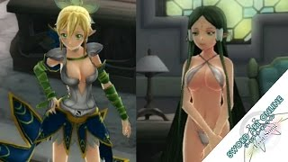 Sword Art Online: Lost Song - Outfit Costumes Showcase - Including DLC School Uniforms + Swimsuits