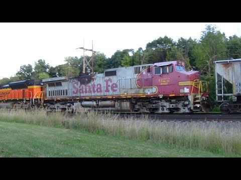 BNSF Local With Santa Fe Dash 9 And Slow Amtrak