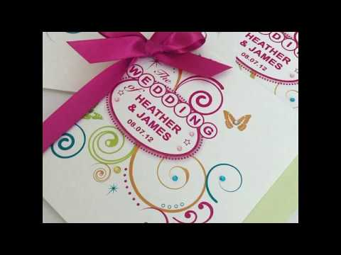 festival-style-wedding-invitations-with-sparkles-and-satin-ribbon-by-pink-sherbet-stationery