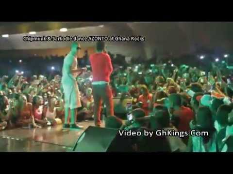 Chipmunk Sarkodie dance AZONTO at Ghana Rocks - YouTube.flv
