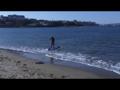 PADDLE SURF HINCHABLE, PLAYA DE SANTA CRISTINA,  OLEIROS. A CORUÑA
