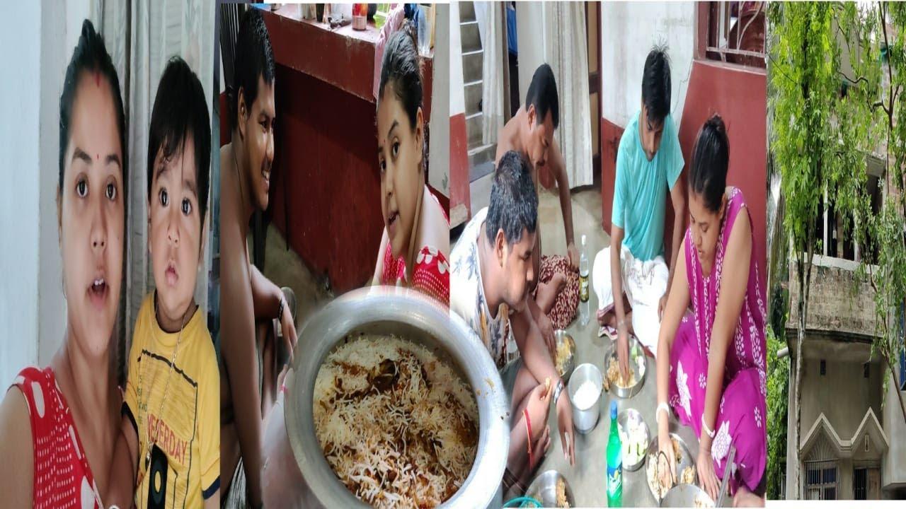 Amader barir notun ghor dekho  || dada ke aj nijer hate biriyani baniye khawalam #banglavlog
