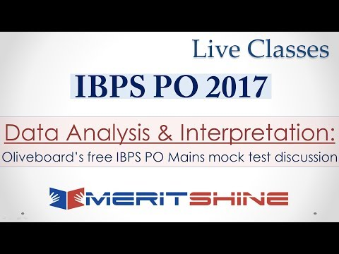 Oliveboard's free IBPS PO Mains mock test discussion (Data Analysis & Interpretation)