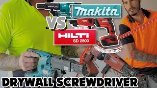 Makita Vs Hilti Drywall Cordless Autofeed Screwdrivers