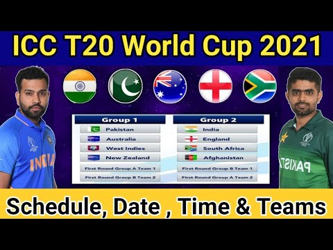 ICC T20 World Cup 2021 | Schedule, Teams, Time Table, Hosting