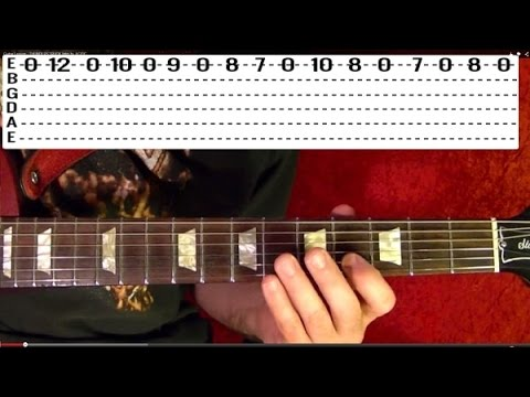 Thunderstruck Intro by AC/DC - Guitar Lesson - Angus Young